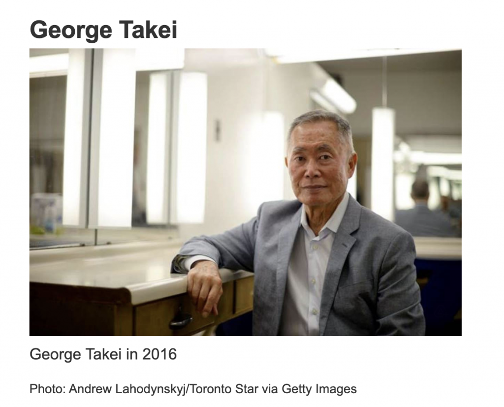George Takei – Asian Pacific American Heritage Month